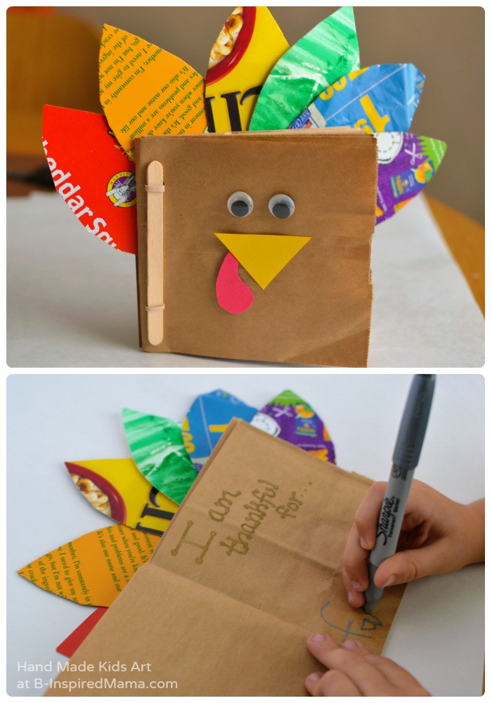 Thanksgiving Turkey Craft  Thanksgiving Crafts for Kids A Thankful Turkey Book • B