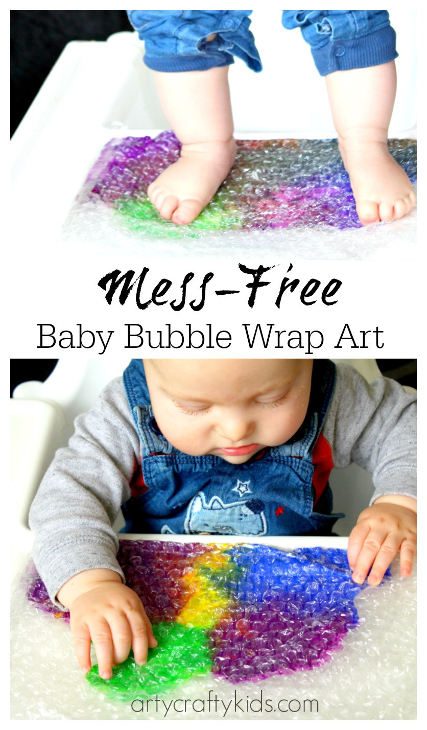 Toddler Arts And Craft Ideas  Baby Bubble Wrap Art Sensory Baby & Toddler Activity