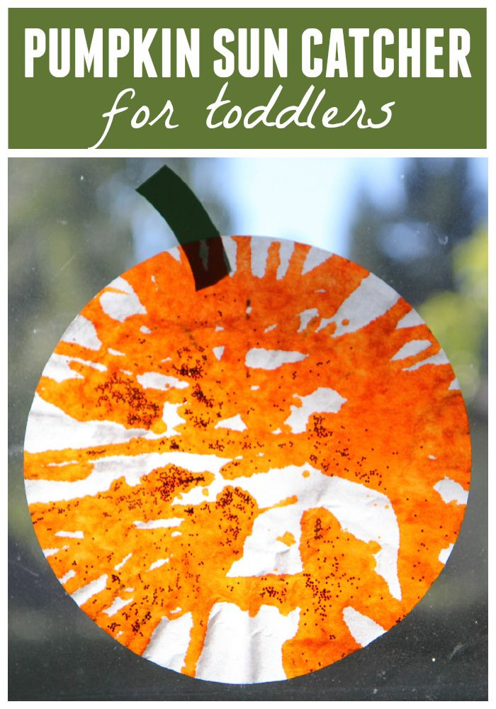 Toddler Arts And Craft Ideas  Toddler Approved Easy Pumpkin Sun Catcher for Toddlers
