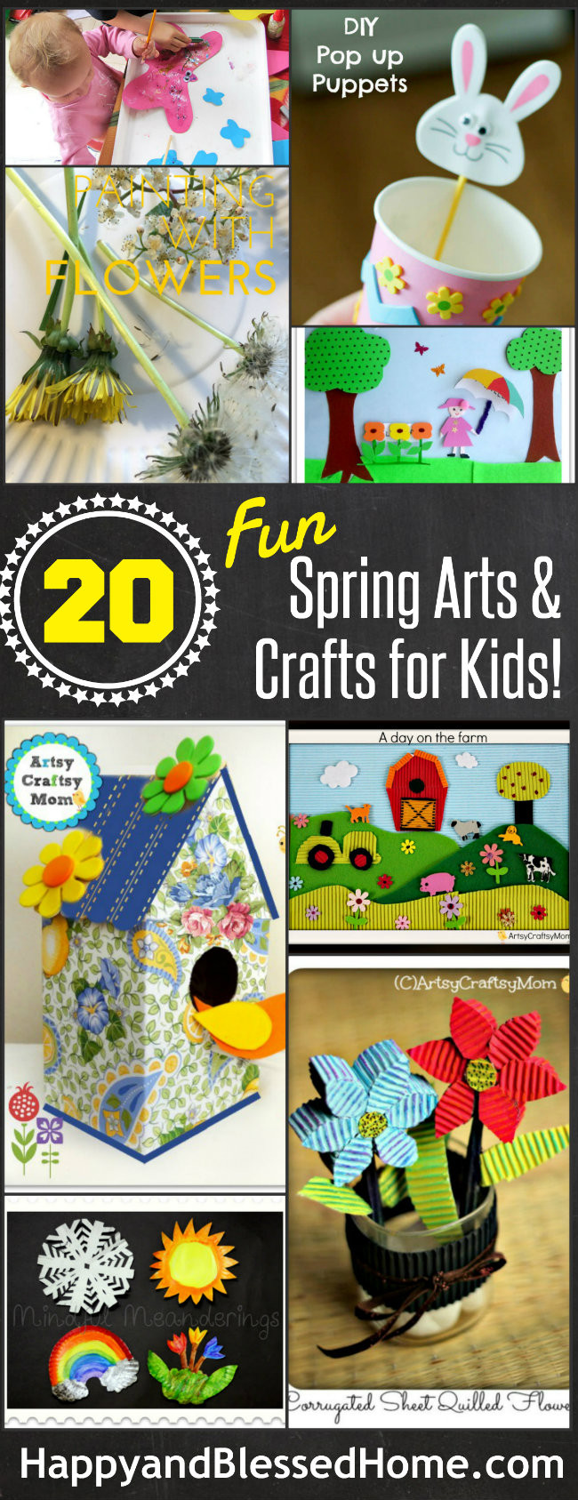 Toddler Arts And Craft Ideas  The Ultimate List of 20 Spring Arts and Crafts for Kids