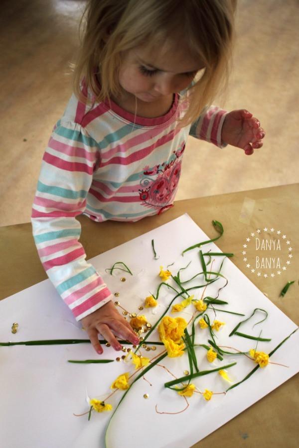 Toddler Arts And Craft Ideas  Australian Wattle Craft for Kids – Danya Banya