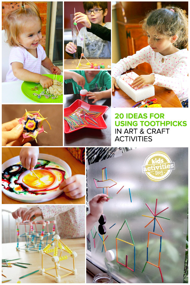 Toddler Arts And Craft Ideas  20 Great Ideas for Using Toothpicks in Art and Craft