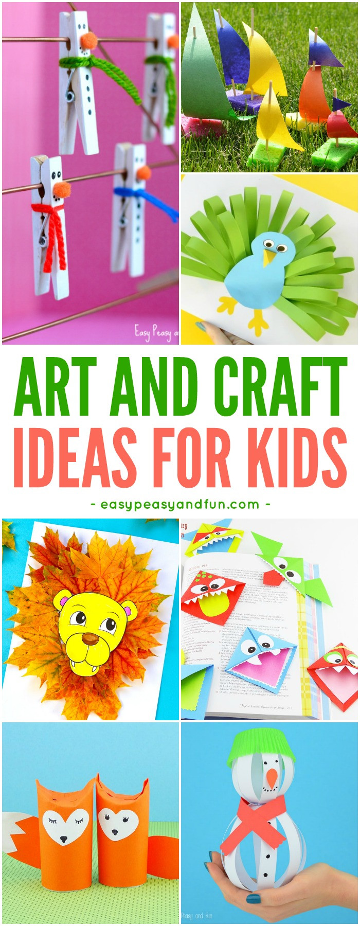 Toddler Arts And Craft Ideas  Crafts For Kids Tons of Art and Craft Ideas for Kids to