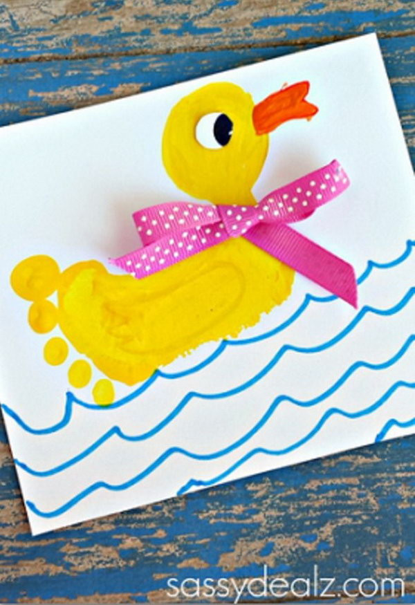 Toddler Craft Project  25 Fun and Beautiful Handprint & Footprint Crafts for Your
