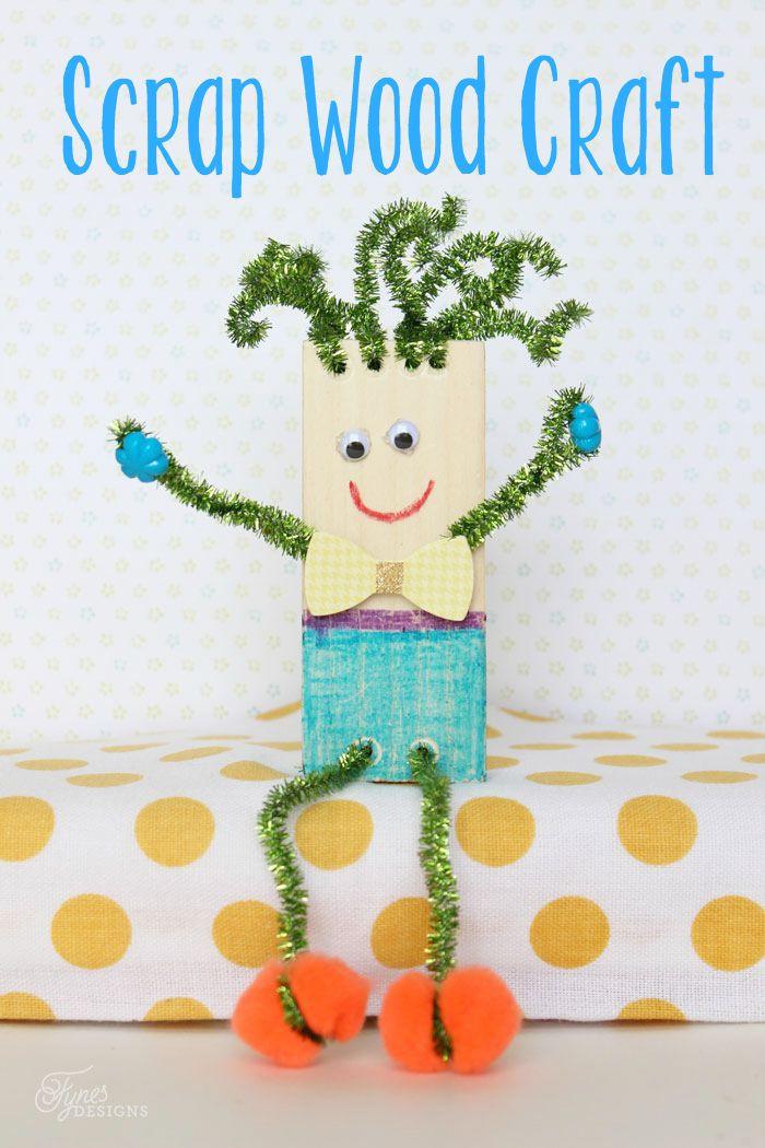 Toddler Craft Project  Wood Scrap Kids Craft Summer Boredom Buster
