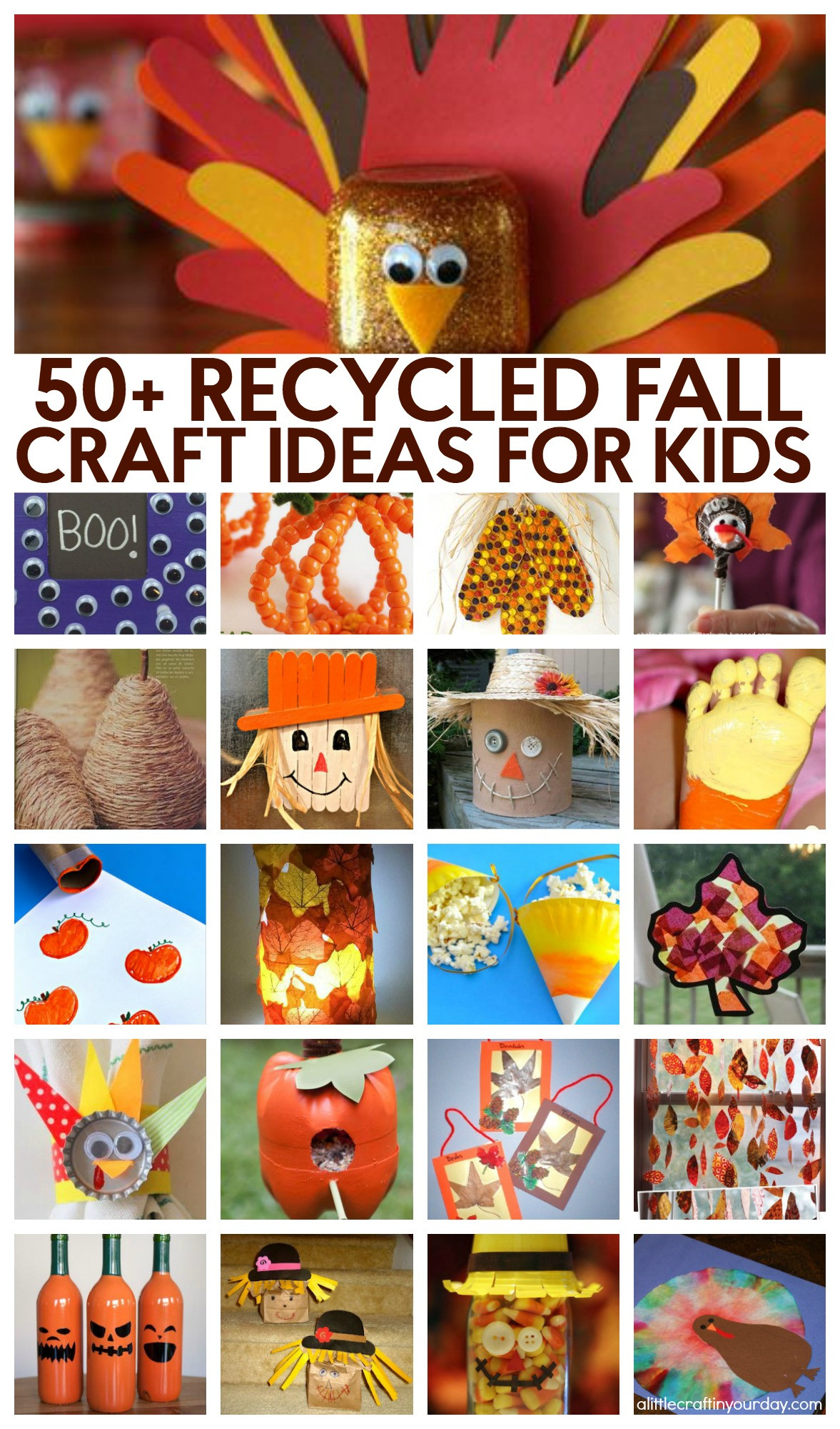 Toddler Craft Project  51 Recycled Fall Kids Crafts A Little Craft In Your DayA