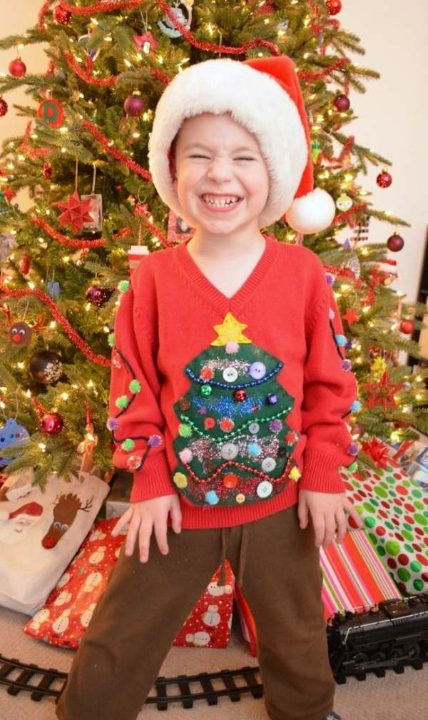 Toddler Ugly Christmas Sweater DIY  40 Ugly Christmas sweater ideas –jump into the festive