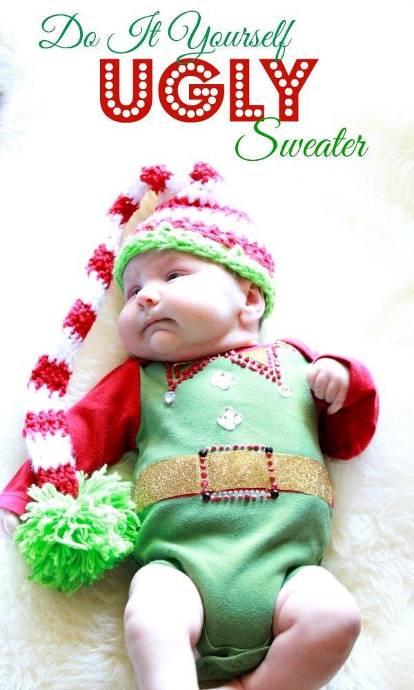 Toddler Ugly Christmas Sweater DIY  DIY UGLY Christmas Sweater For Baby  Refunk My Junk