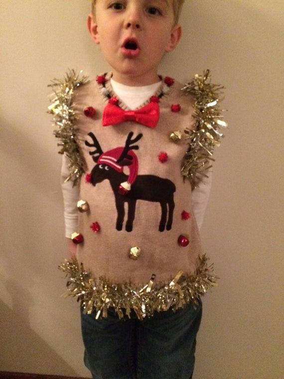 Toddler Ugly Christmas Sweater DIY  Custom Adorable Kids Toddler 5t Custom Ugly Christmas Sweater