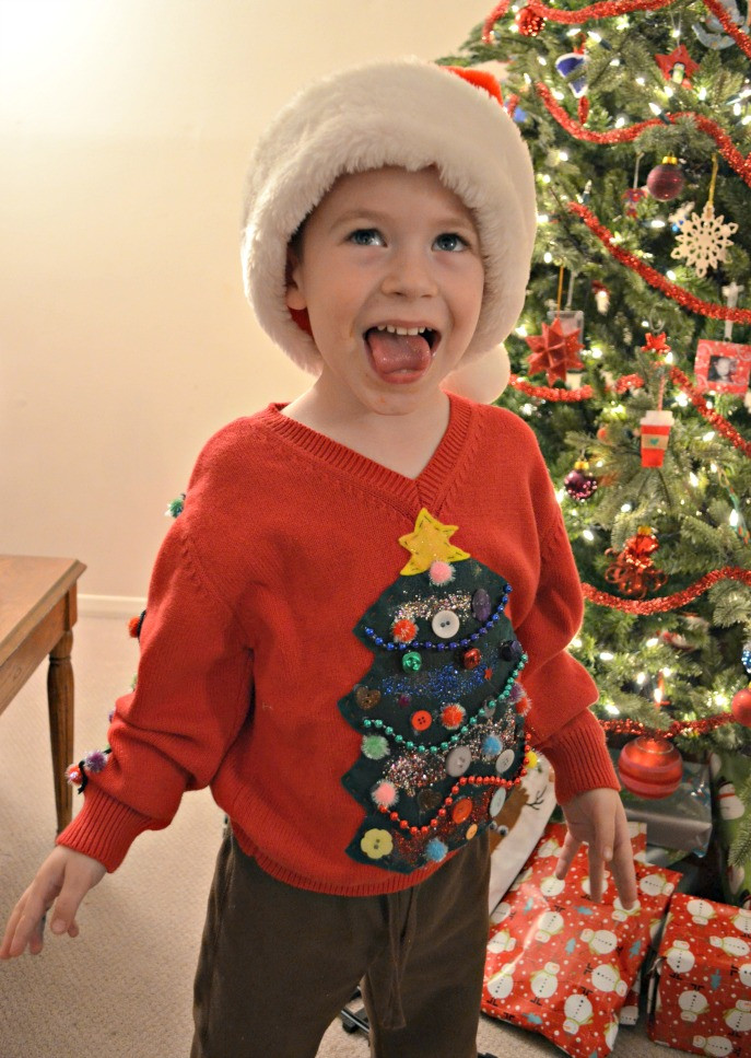 Toddler Ugly Christmas Sweater DIY  DIY Ugly Sweater Amy Latta Creations