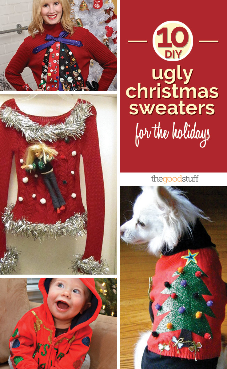 Toddler Ugly Christmas Sweater DIY  10 DIY Ugly Christmas Sweaters for the Holidays thegoodstuff