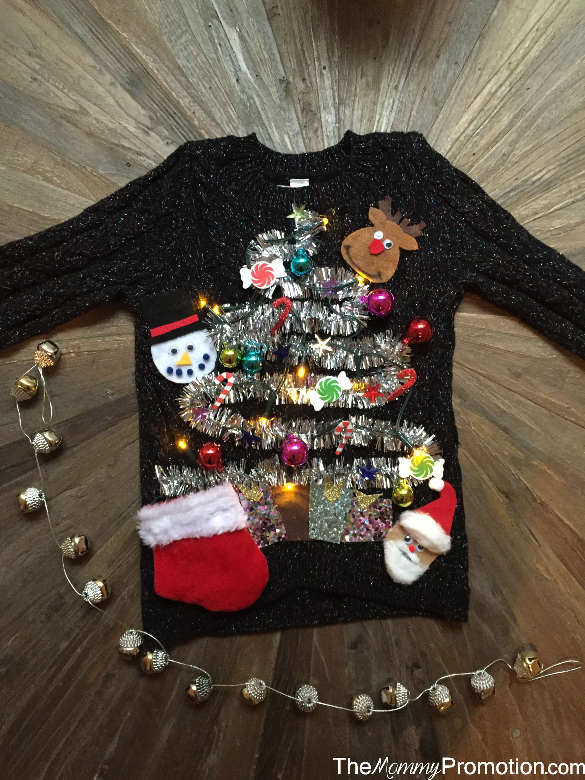 Toddler Ugly Christmas Sweater DIY  DIY Ugly Cute Christmas Sweater – for Kids – The Mommy