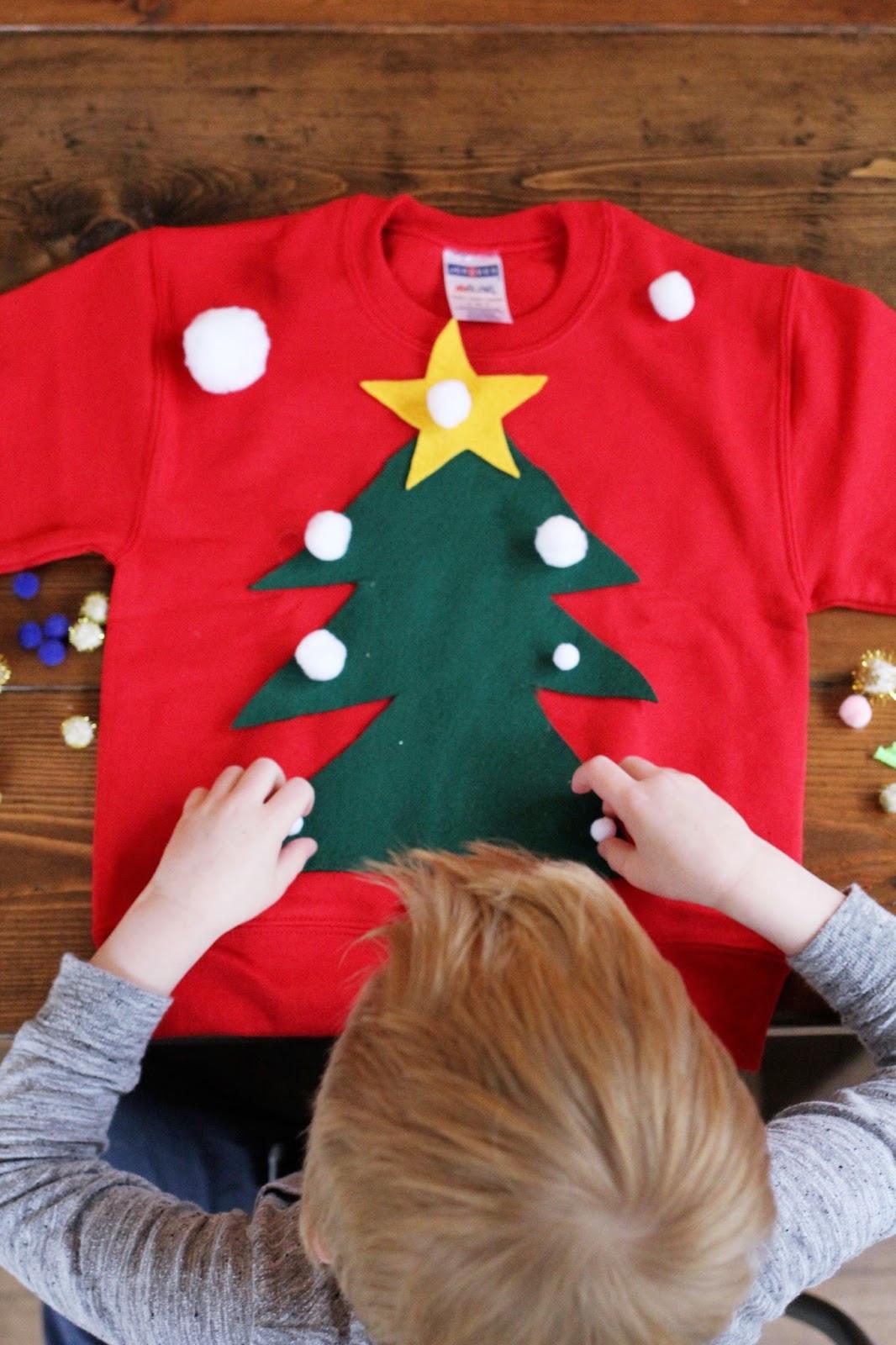 Toddler Ugly Christmas Sweater DIY  DIY Ugly Christmas Sweater For Kids