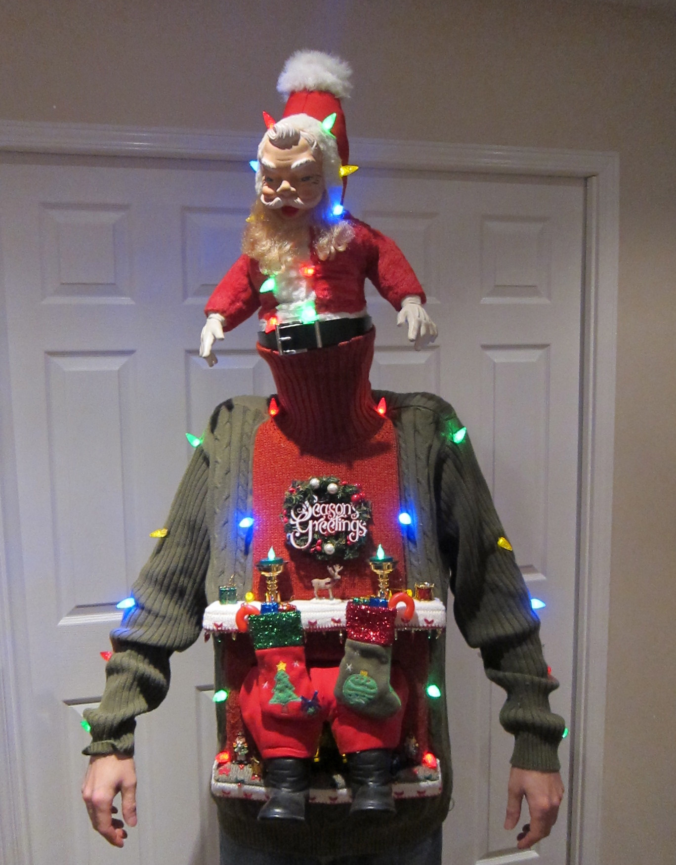 Toddler Ugly Christmas Sweater DIY  UGLY CHRISTMAS SWEATER DIY Stuck in the Chimney 2012