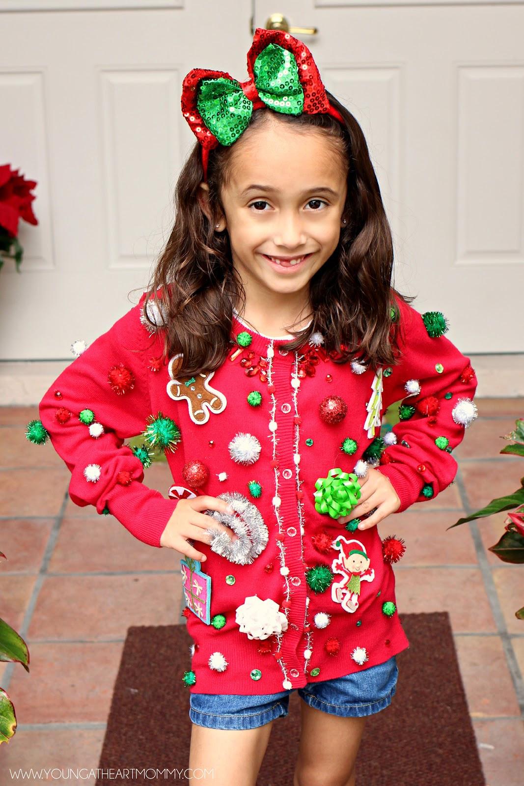 Toddler Ugly Christmas Sweater DIY  Ugly Sweater GoGo squeeZ AppleSauce Pouches Young At