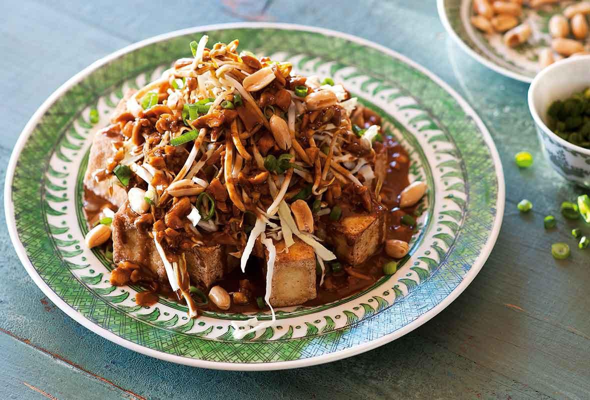 Tofu Sauce Recipes  Deep Fried Tofu with Peanut Sauce Recipe
