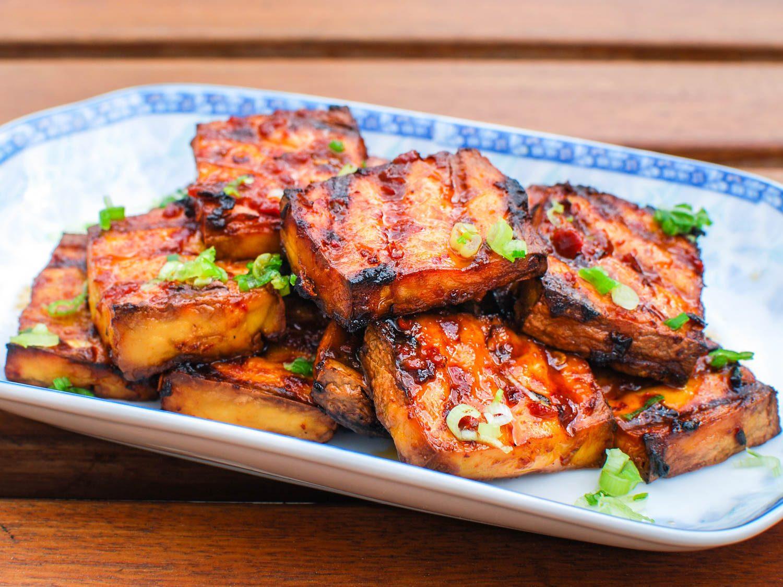 Tofu Sauce Recipes  Grilled Tofu With Chipotle Miso Sauce Recipe
