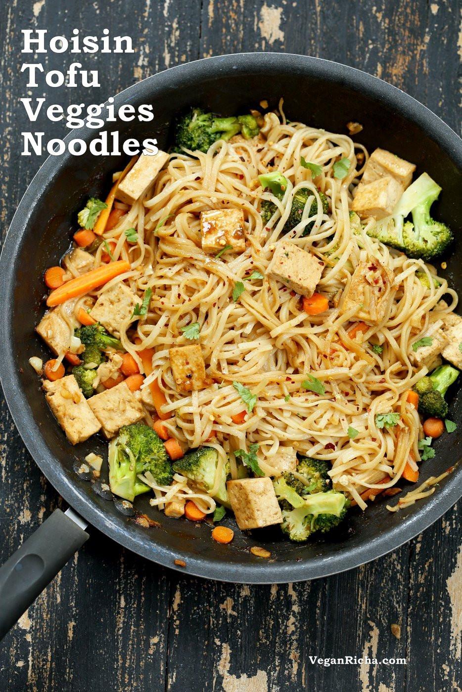 Tofu Sauce Recipes  Tofu and Brown Rice Noodles in Hoisin Sauce Vegan Richa