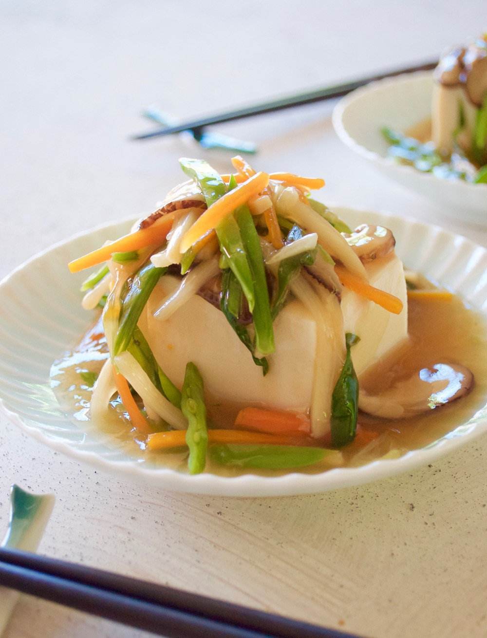 Tofu Sauce Recipes  Tofu with Ve able Sauce