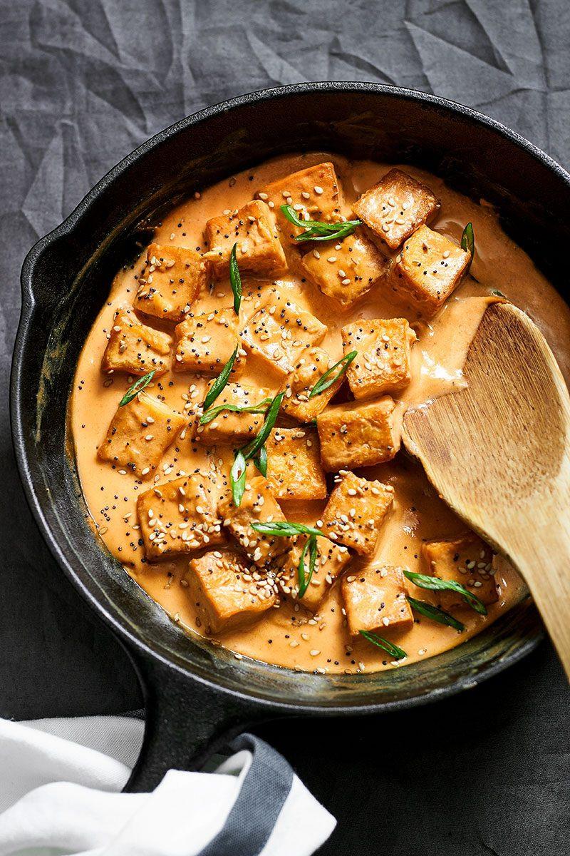 Tofu Sauce Recipes  Tofu Stir Fry Recipe with Tahini Sauce — Eatwell101