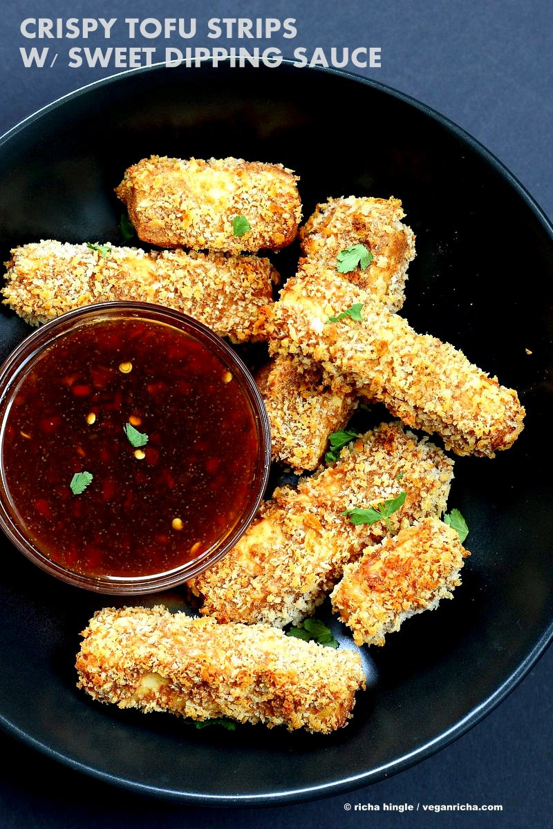 Tofu Sauce Recipes  Crispy Tofu with Sweet Chili Sauce Vegan Richa