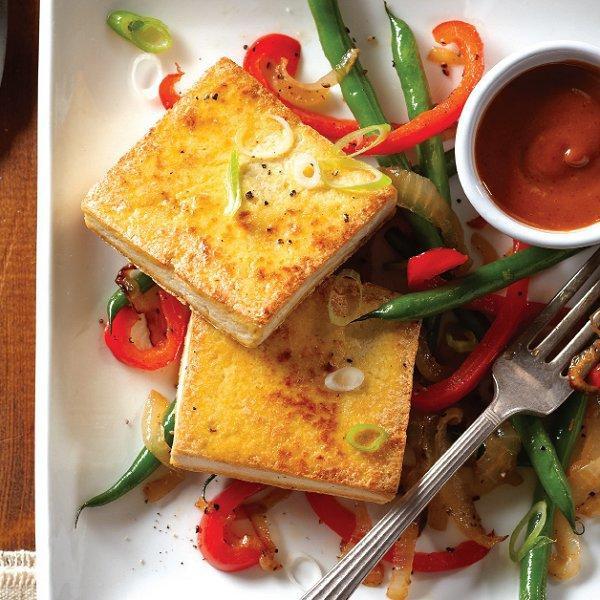 Tofu Sauce Recipes  Crispy tofu with peanut sauce recipe Chatelaine