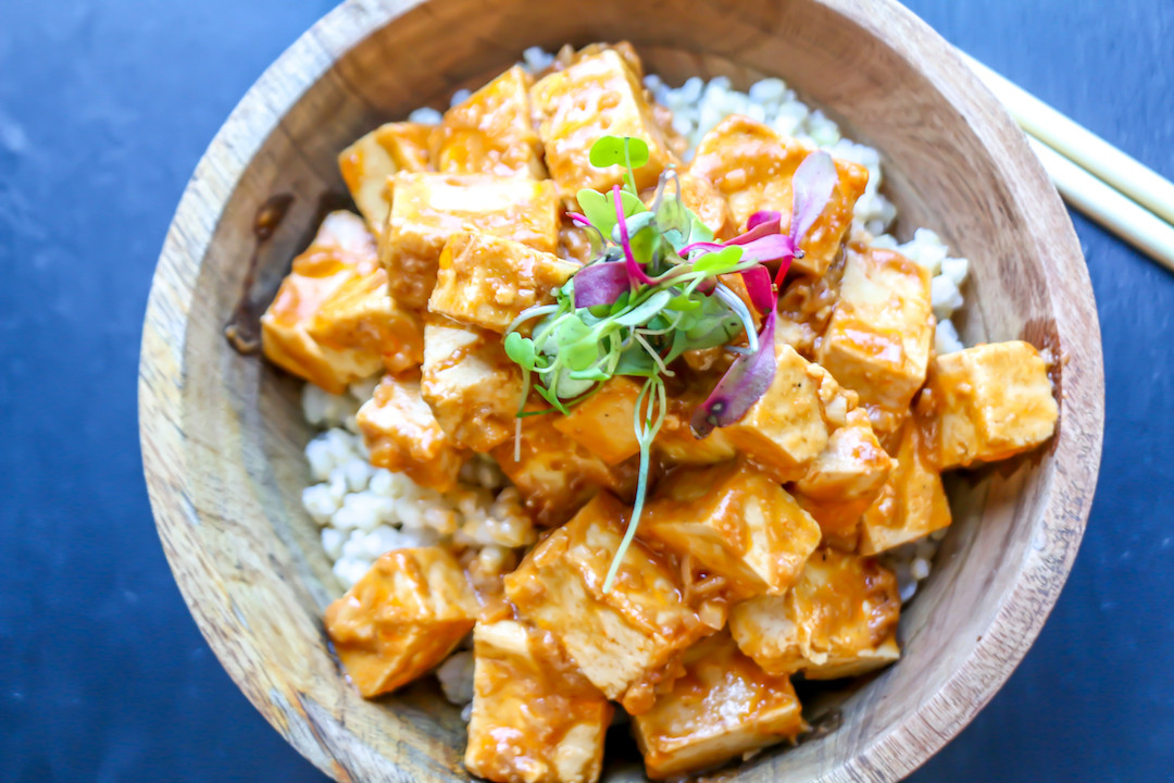 Tofu Sauce Recipes  Tofu with Spicy Peanut Sauce The Buddhist Chef