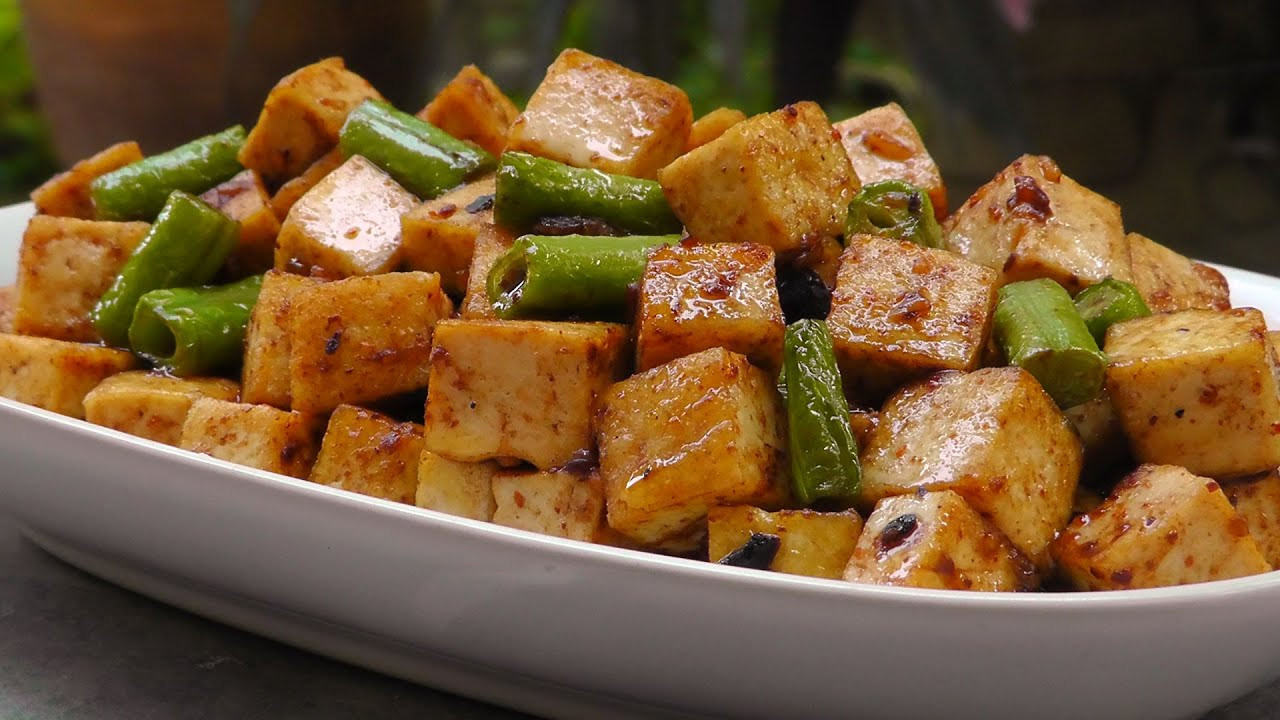 Tofu Sauce Recipes  Chinese Tofu in Black Bean Sauce Vegan Ve arian Recipe