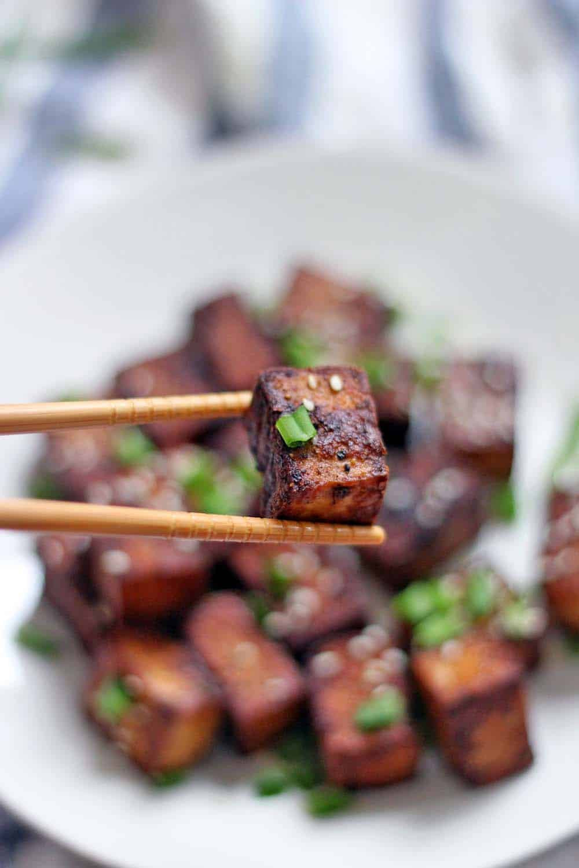 Tofu Sauce Recipes  Pan Fried Tofu With Dark Sweet Soy Sauce Recipe — Dishmaps
