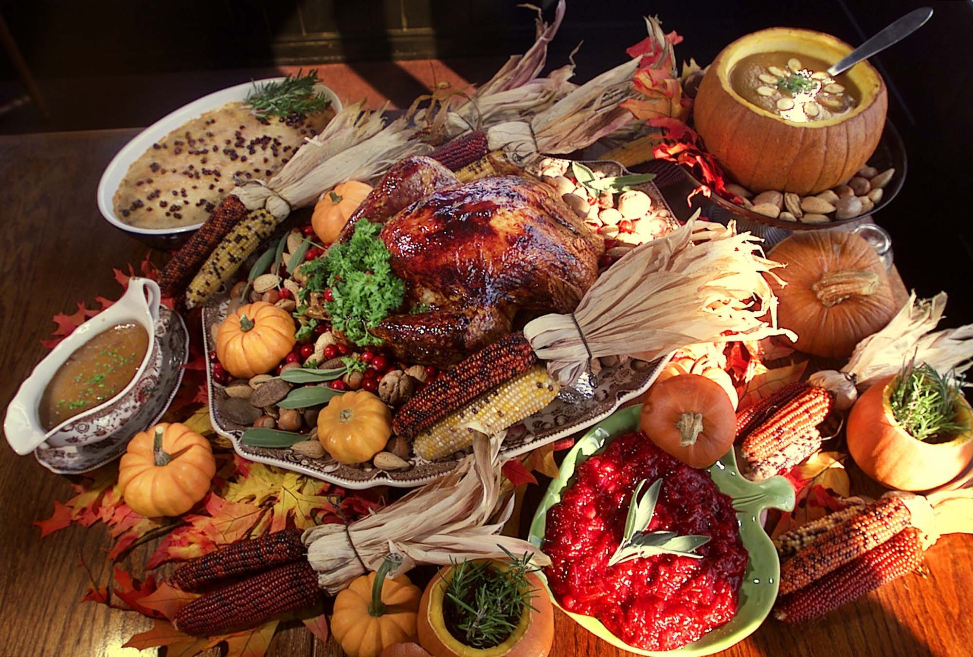 Traditional American Thanksgiving Dinner  Saying thank you to you the readers Terry Pluto