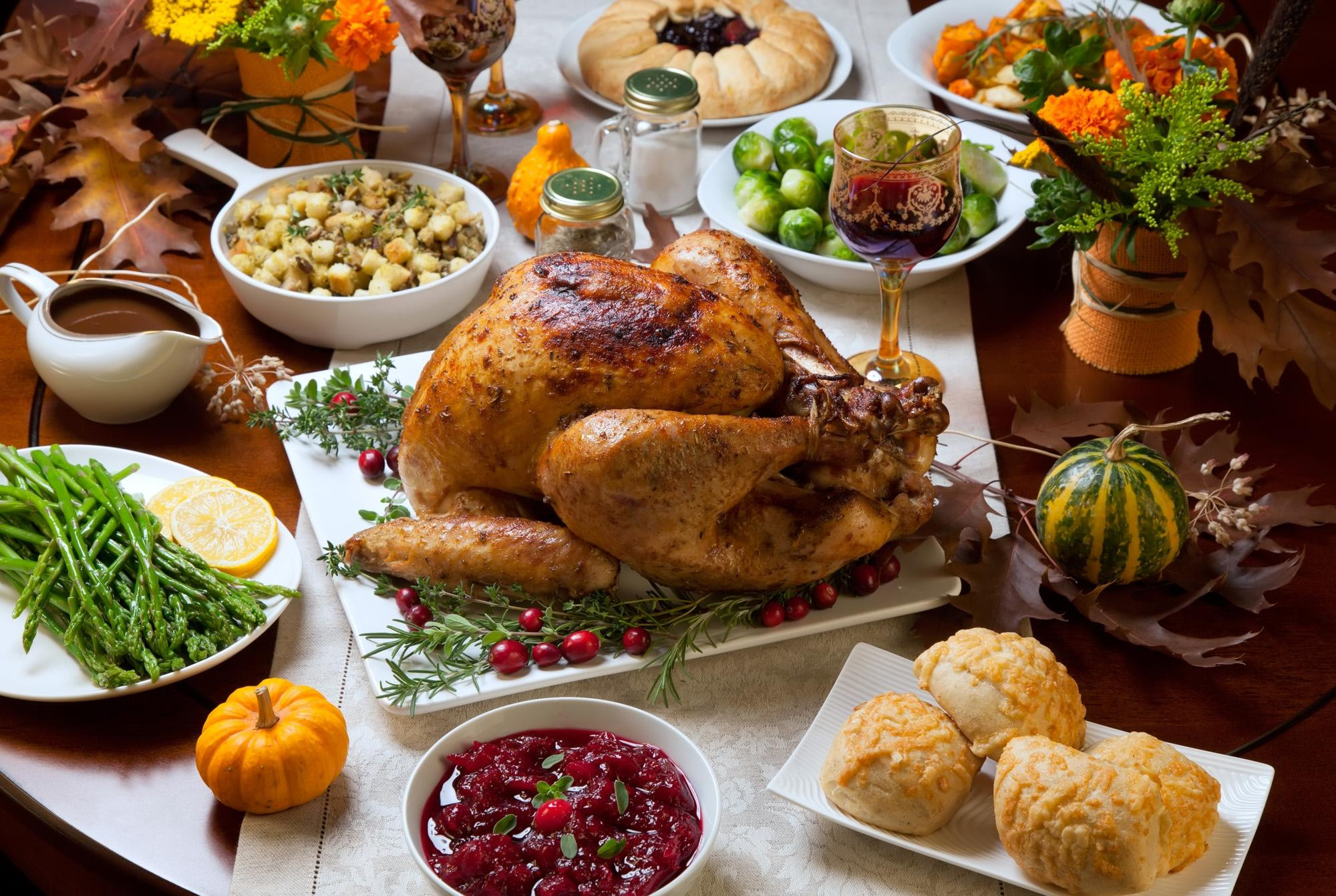 Traditional American Thanksgiving Dinner  Special Thanksgiving Menu 2018