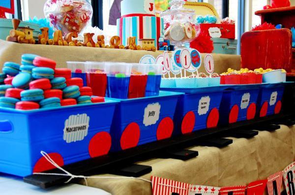 Train Birthday Party Decorations  Kara s Party Ideas Train Boy Themed Birthday Party