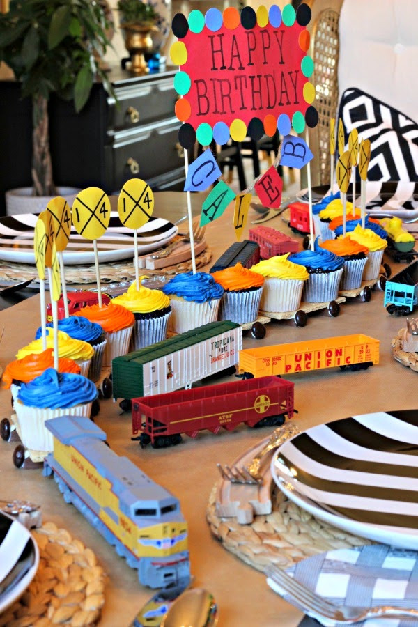 Train Birthday Party Decorations  TRAIN BIRTHDAY PARTY Dimples and Tangles