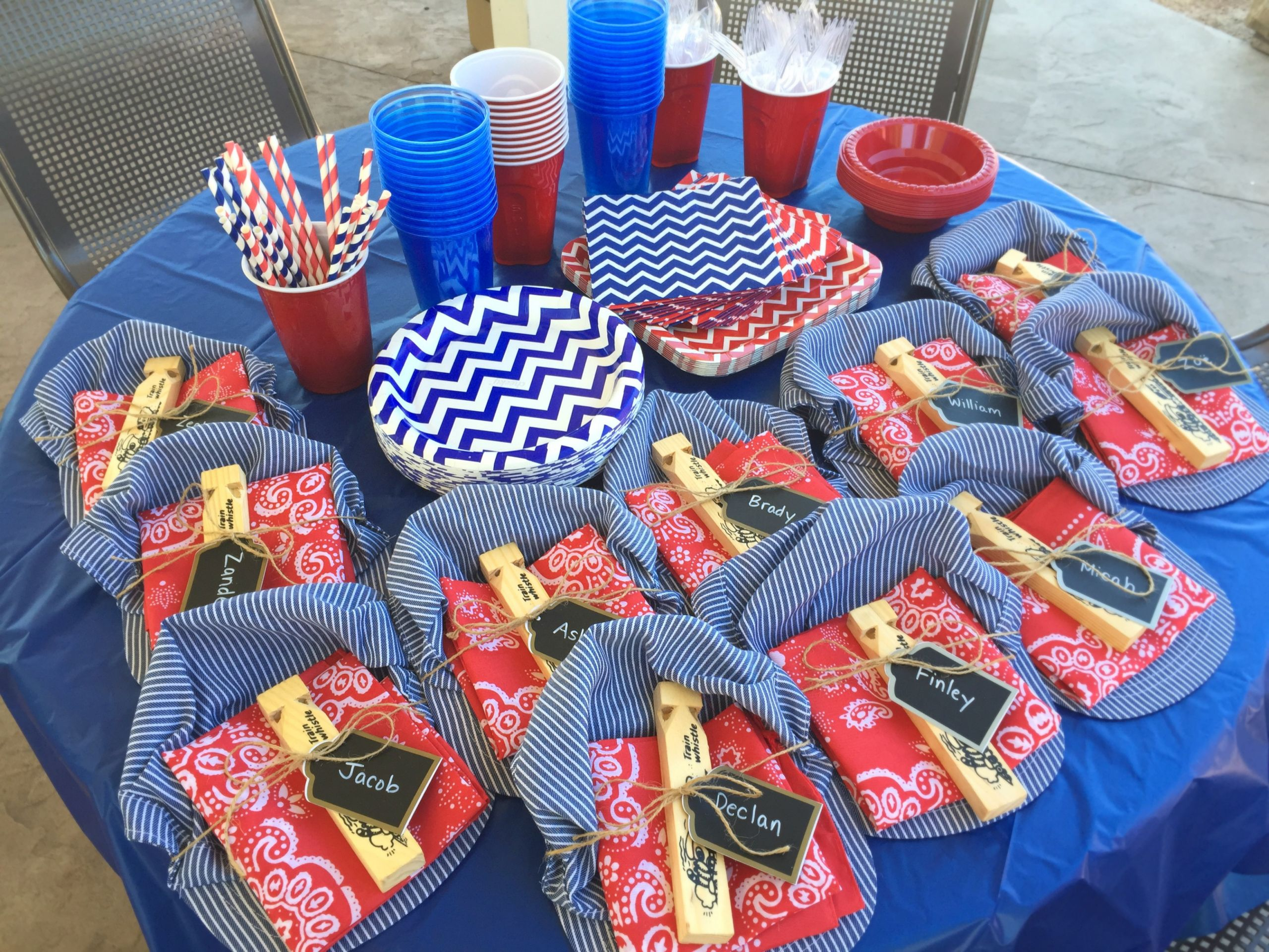 Train Birthday Party Decorations  Train themed birthday party – Belleview Cottage