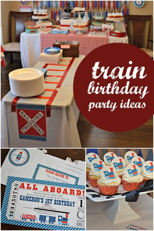 Train Birthday Party Decorations  A Boy s Train Themed Birthday Party