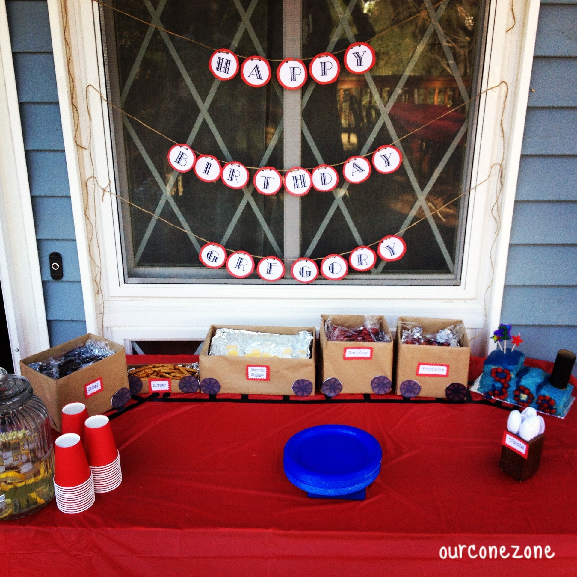 Train Birthday Party Decorations  DIY Trains Birthday Party Our Cone Zone