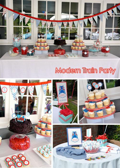 Train Birthday Party Decorations  Train Themed Birthday Party