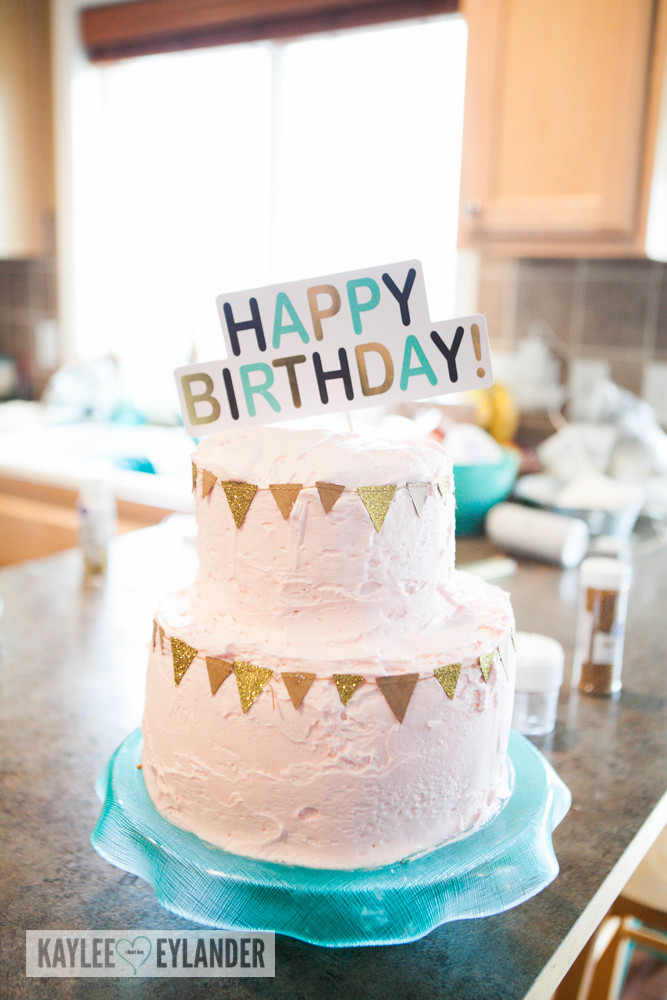 Tween Birthday Cakes  Gold Glitter Mint & Pink Birthday Ideas