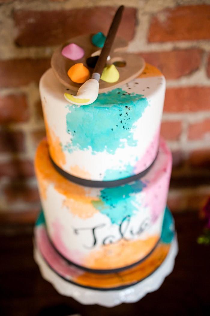 Tween Birthday Cakes  Kara s Party Ideas Floral Art Tween Birthday Party