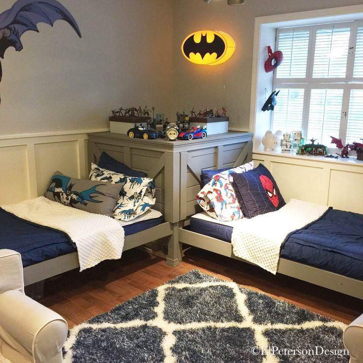 Twin Boys Bedroom  How to transform a bunk bed into twin beds