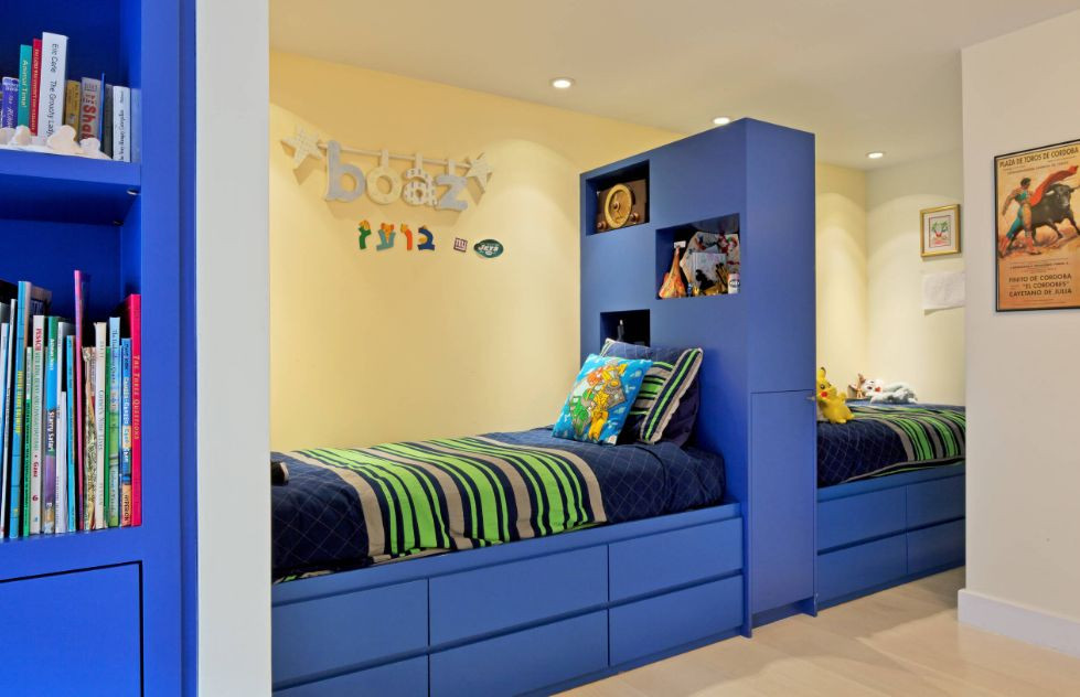 Twin Boys Bedroom  Simple Ways To Make Twin Beds For Boys Look Cozy