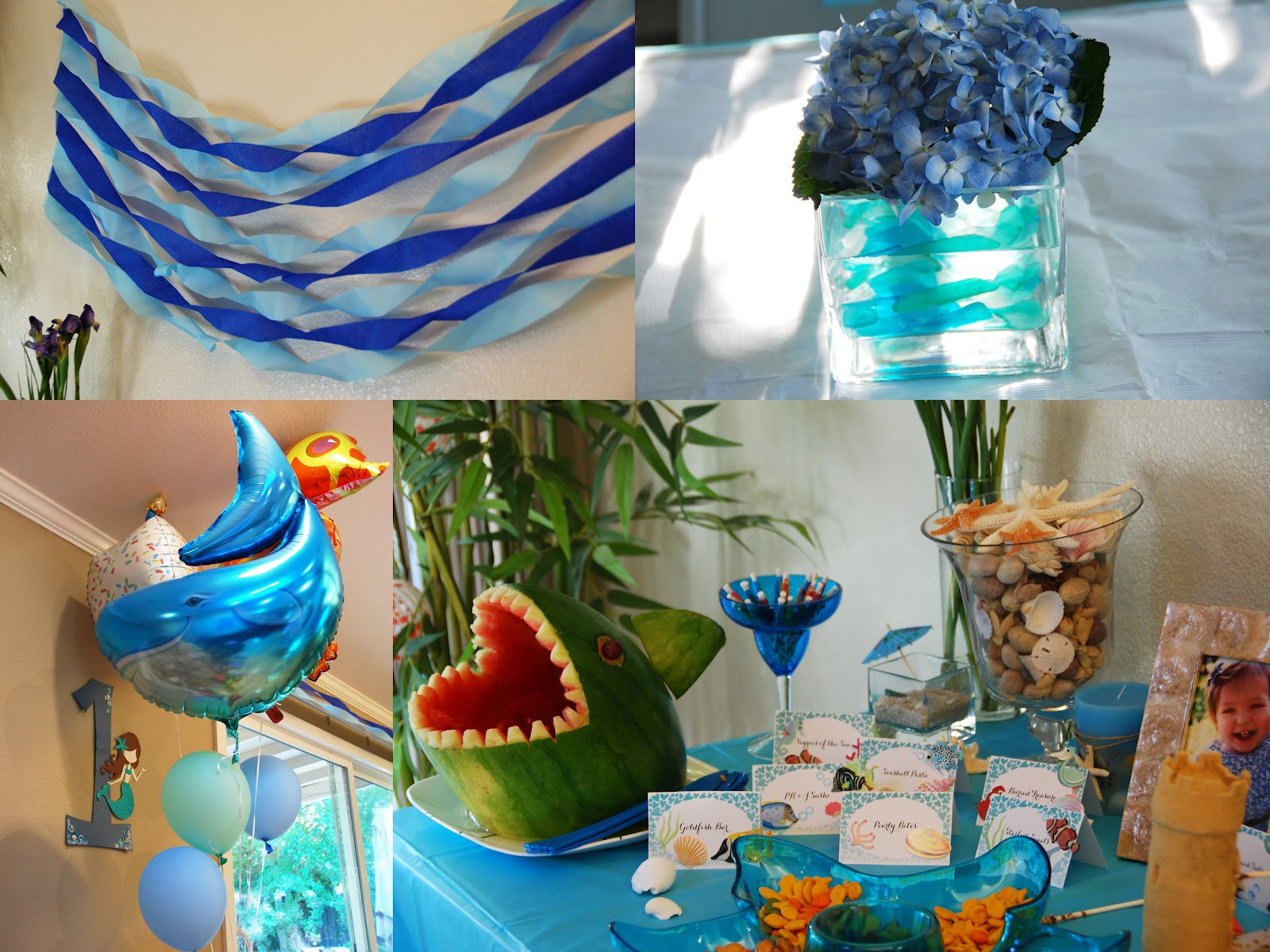 Under The Sea Birthday Decorations  All Things Elise & Alina Alina s First Birthday Under