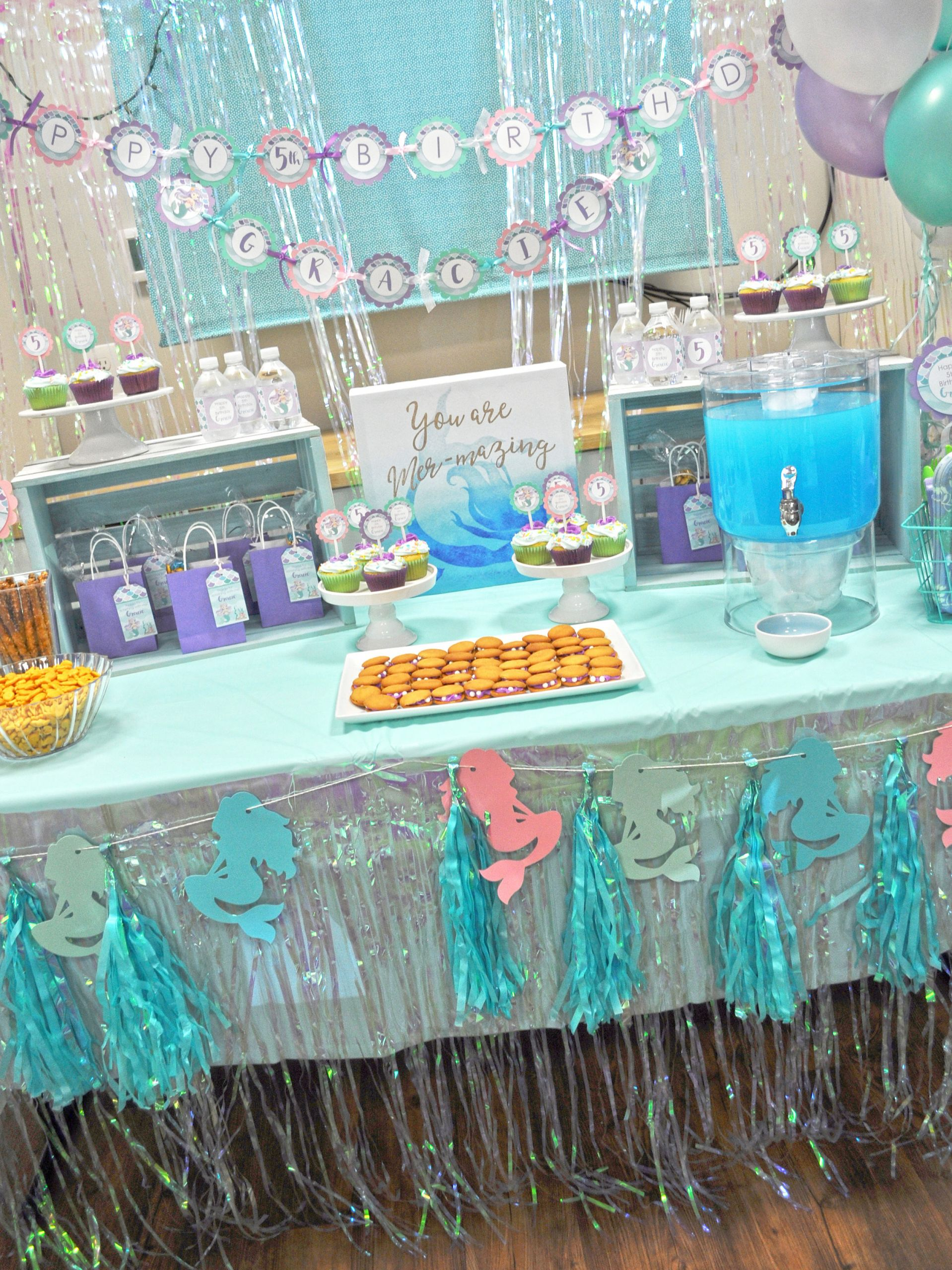 Under The Sea Birthday Decorations  Mermaid Birthday Centerpiece Sticks 1st Birthday Girls