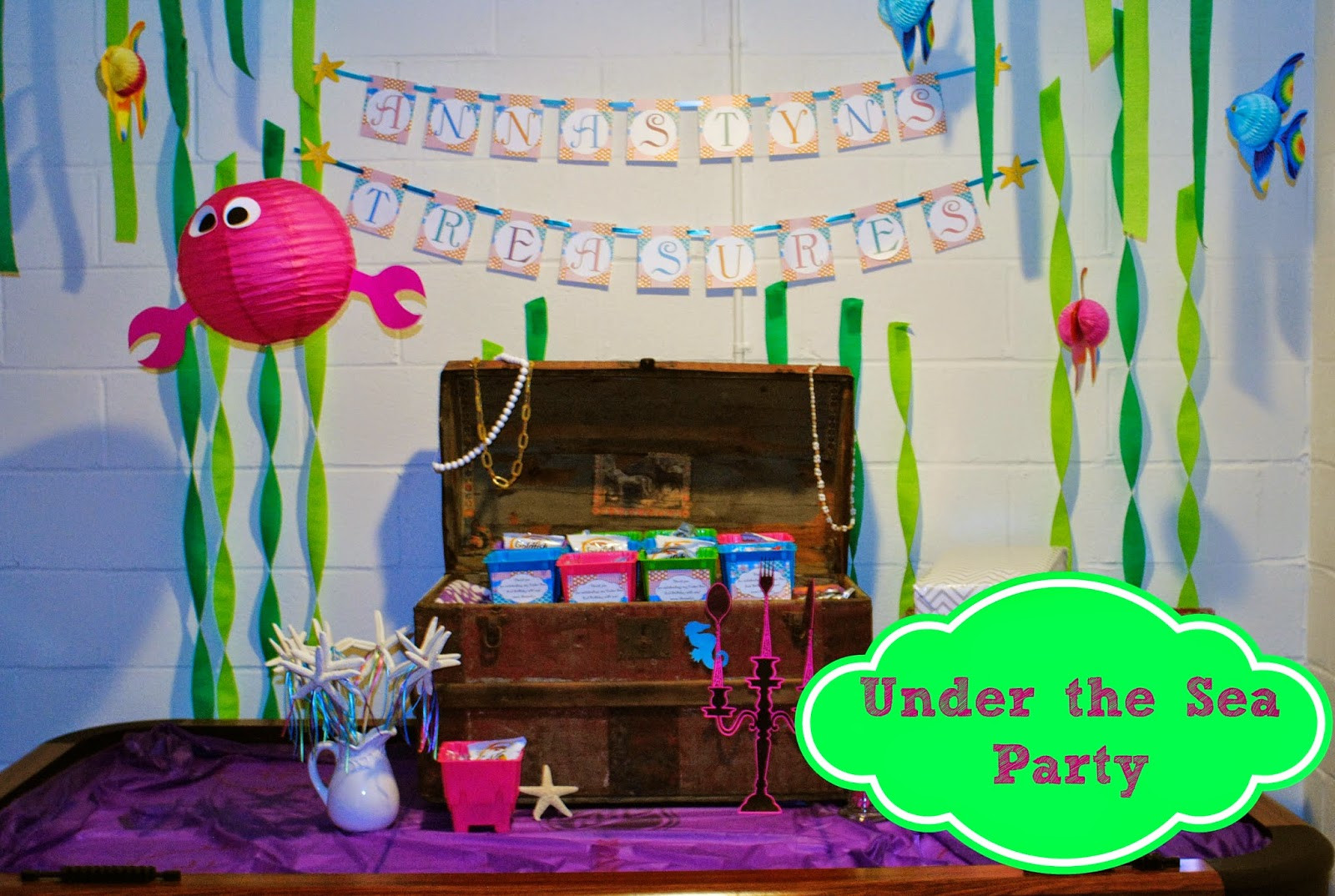 Under The Sea Birthday Decorations  Our Pinteresting Family Under the Sea Birthday Party