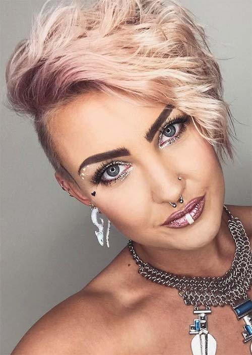 Undercut Hairstyle Women  51 Edgy and Rad Short Undercut Hairstyles for Women Glowsly