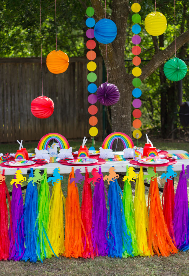 Unicorn And Rainbow Birthday Party Ideas  Hazel s Rainbow Unicorn Birthday Party Design Improvised