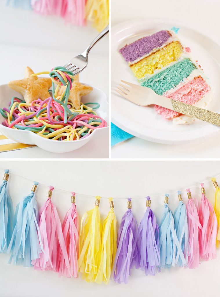 Unicorn And Rainbow Birthday Party Ideas  Simple & Sweet Unicorn Birthday Party Ideas Hostess