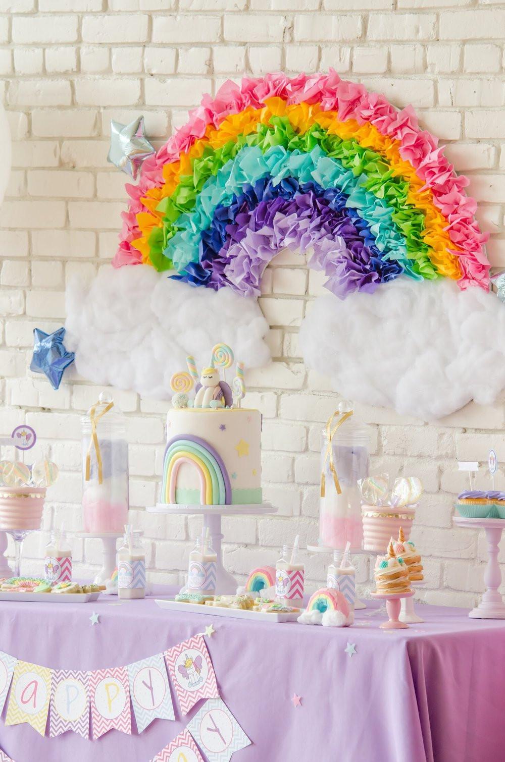 Unicorn And Rainbow Birthday Party Ideas  The Sweetest Unicorn Birthday Party Free Printables