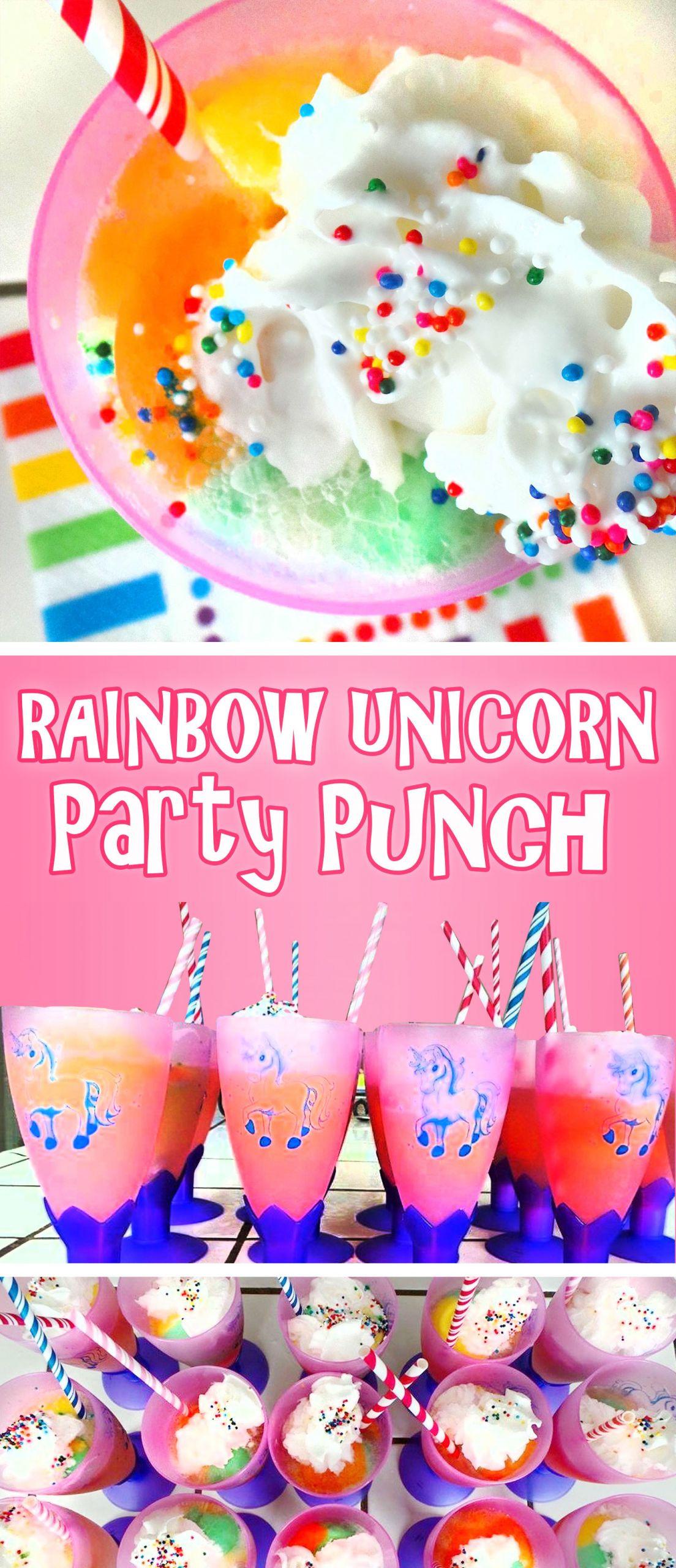 Unicorn And Rainbow Birthday Party Ideas  Rainbow Unicorn Party Punch