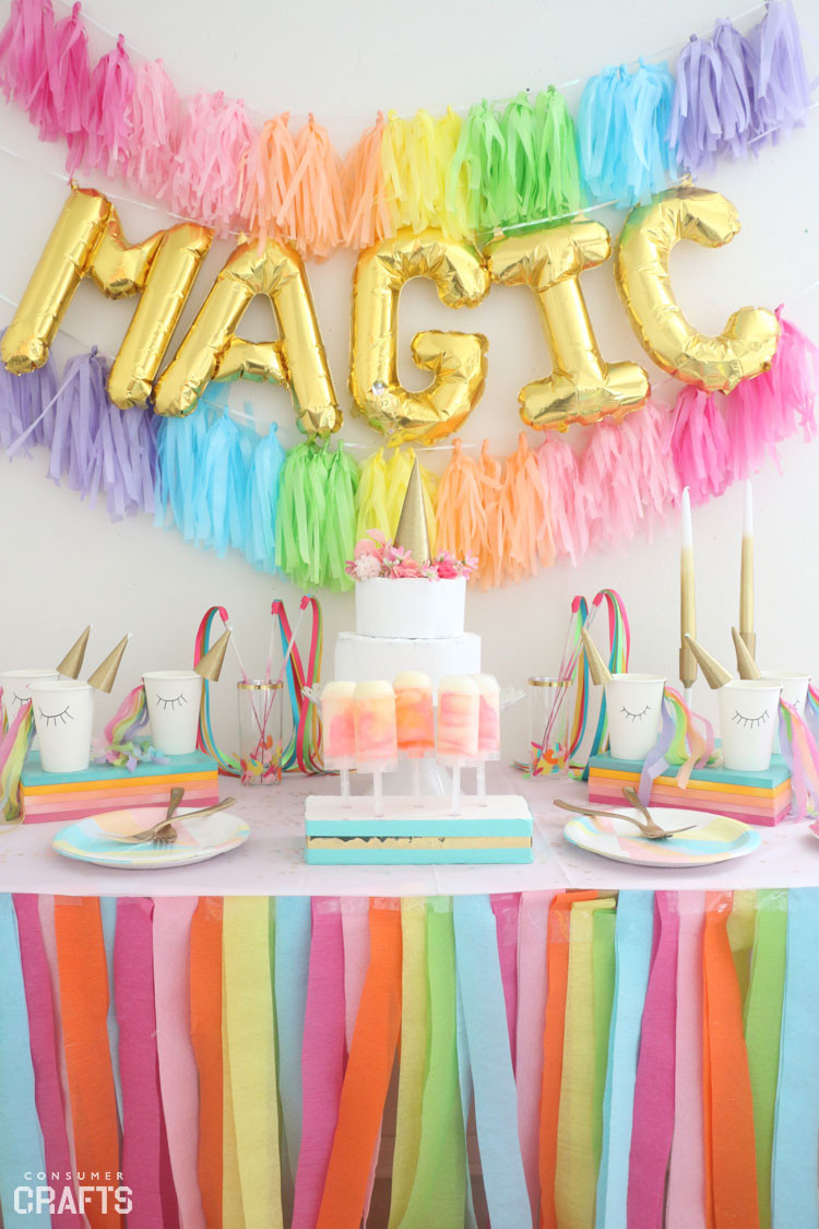 Unicorn And Rainbow Birthday Party Ideas  DIY Unicorn Party Cups Step by Step Consumer Crafts
